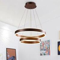 Lustre moderna sala de estar sala de jantar quarto lustre de led acrílico luz dimmer anel circular criativo Lustre 110-240 v