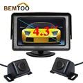 BEMTOO 5 дюймов HD Зеркало Заднего Вида Монитора 800*480 HD Ночного Видения автомобильная Камера Заднего вида и Фронтальной Камерой с 170 Wide View угол
