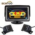 Bemtoo 5 polegada hd espelho retrovisor monitor de 800*480 + hd de visão noturna Câmera de Visão Traseira e Dianteira do carro Câmera com 170 Visão Ampla ângulo