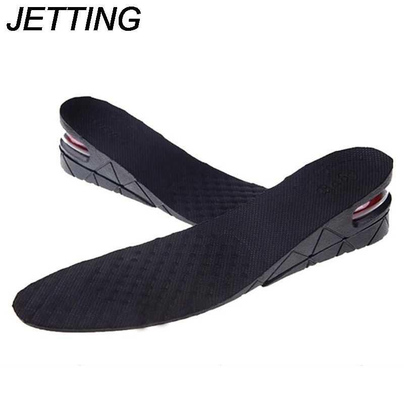 2 ชั้น 5 ซม. ความสูงเพิ่มพื้นรองเท้า EVA Pigskin Insoles เจล Flat Foot ซิลิโคน Soles Orthopedic Gel รองเท้า pad ยกเพิ่ม