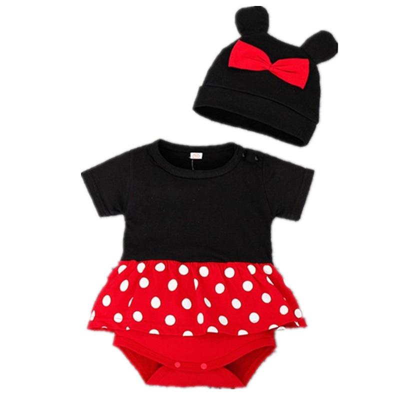 Summer Infant Newborn Toddler Baby Girls Boys Outfit Clothes Romper Jumpsuit +Hat Set 2pcs