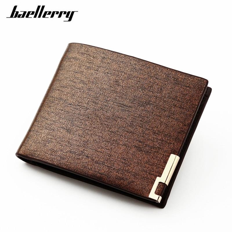 Men Wallets PU Leather Fashion Thin Bifold Wallet Men ID Card Holder Coin Purse Pockets Clutch Business Men Wallet F001