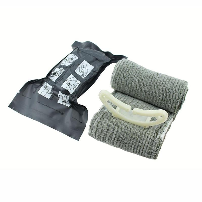 Outdoor First Aid Emergency Elastic Bandage Trauma Hemostatic Israeli Bandages Sterilization One-handed Operation Survival