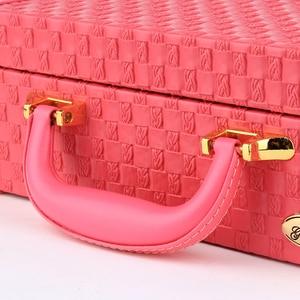 Image 2 - Guanya, collar de patrón trenzado portátil, caja de embalaje para guardar joyas, collar, anillos, pendientes, estuche organizador para regalo de niñas