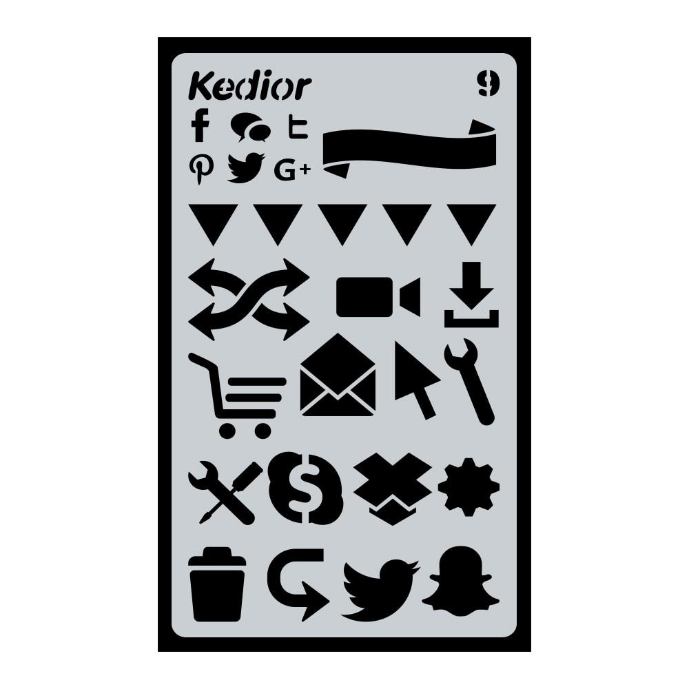 1 pcs Bullet Journal Stencil Plastic Planner Stencils Journal/Notebook/Diary/Scrapbook DIY Drawing Template Stencil 4x7inch #9