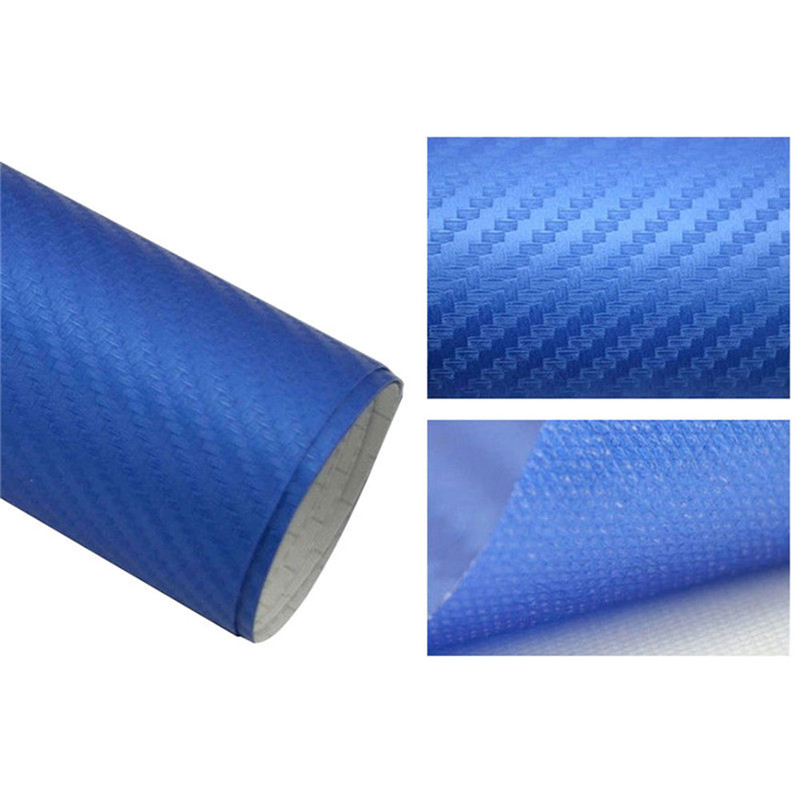 127cmx10/20 см 3D виниловая пленка из углеродного волокна для автомобиля, рулонная пленка, наклейка на машину, мотоцикл, наклейки для автомобиля, аксессуары для интерьера - Color Name: Blue