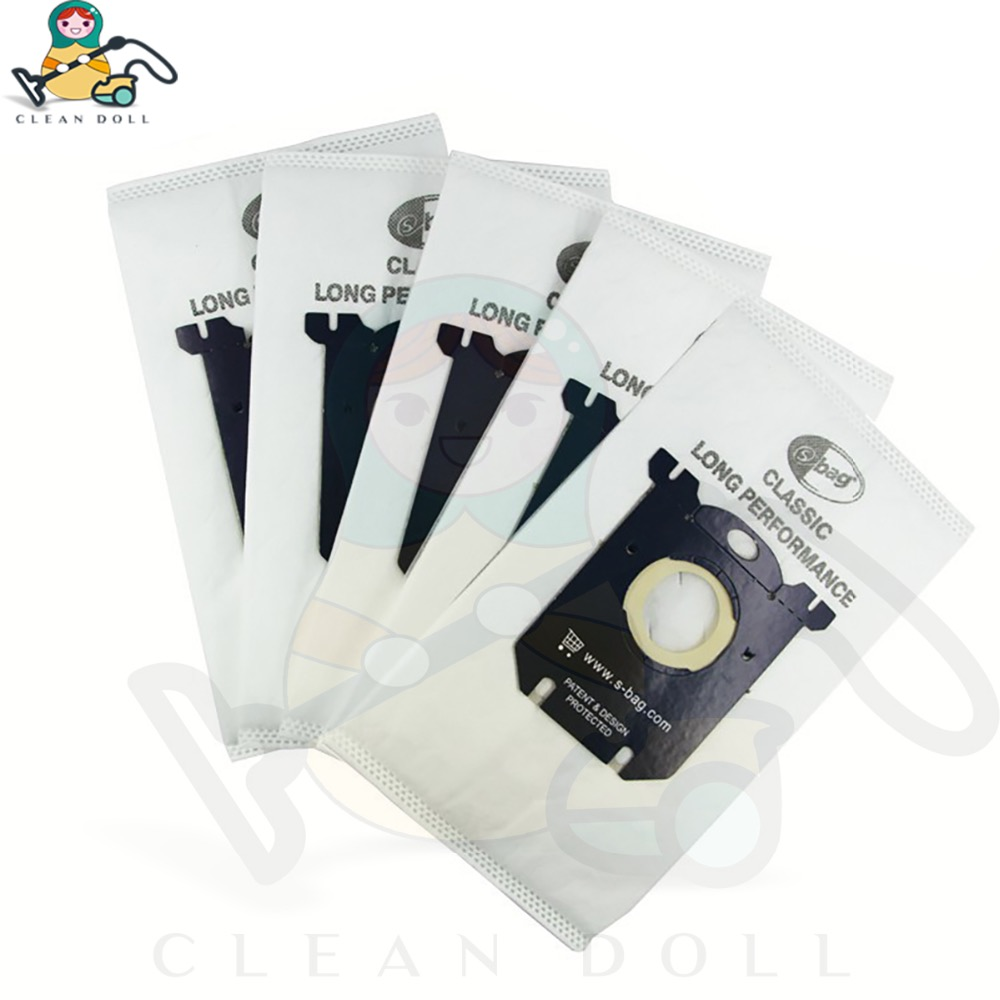 CLEAN DOL 5-PACK Dust bag S-Bag for Philips FC8022 FC8021 FC8023 Electrolux E203B Volta Tornado AEG Vacuum Cleaner dust bag