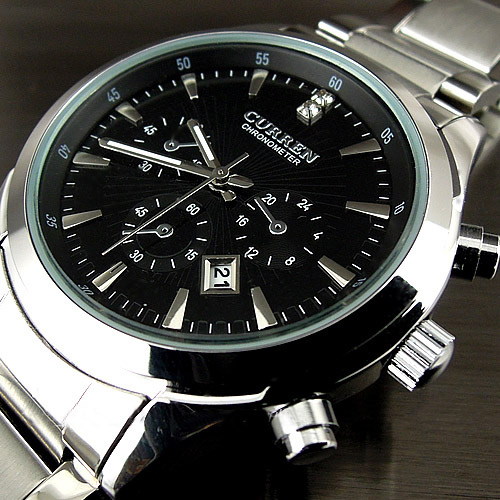 2016 relogio masculino CURREN Luxury Brand Full Stainless Steel Analog Display Date Men s Quartz Watch