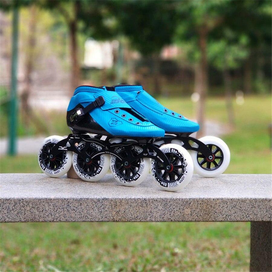 EUR taille 30-44 patins à roues alignées modelables à la chaleur patins de compétition en Fiber de carbone 4 roues Patines de patinage de rue