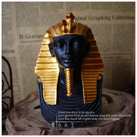 Egyptian Gold Mask Egyptian Decorations Creative Crafts Figures Home Decoration Rustic Vintage Home Decor Egyptian Ornaments