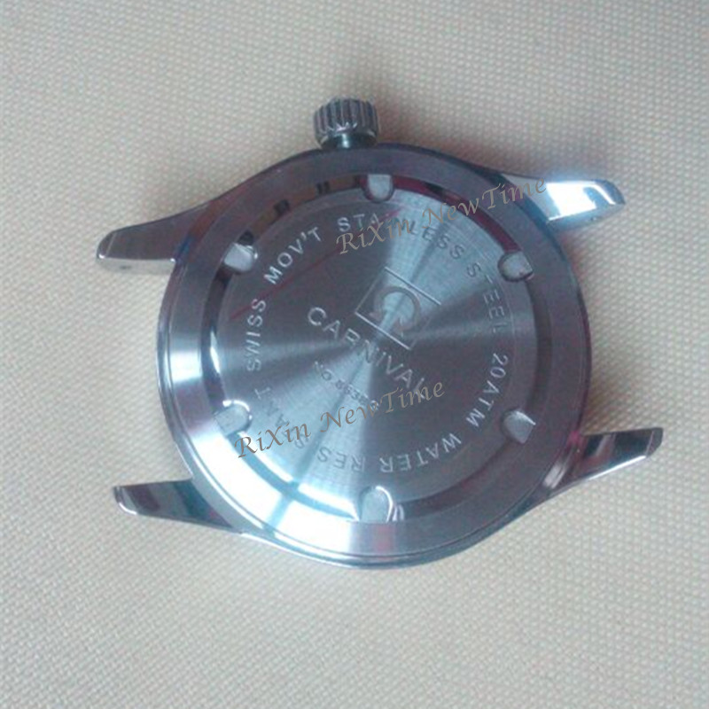 Image 5 - Carnival Tritium Light men Watch Quartz Double calendar Date Tritium Luminous Waterproof 200M Military diving Watches sapphire-in Quartz Watches from Watches