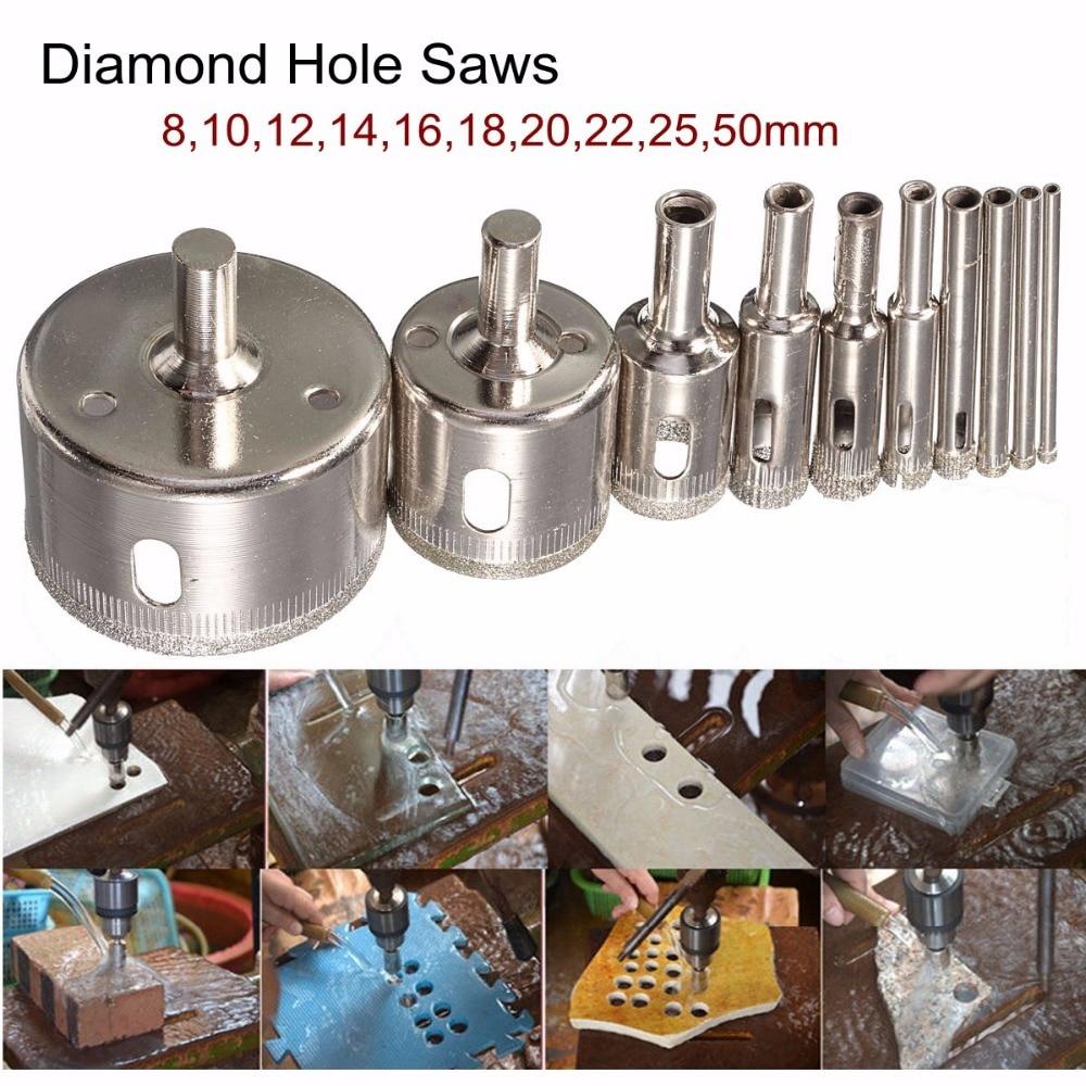 Karšto išpardavimo 10 vnt. / Rinkinys - 8–50 mm, deimantu dengtos - Grąžtas - Nuotrauka 6