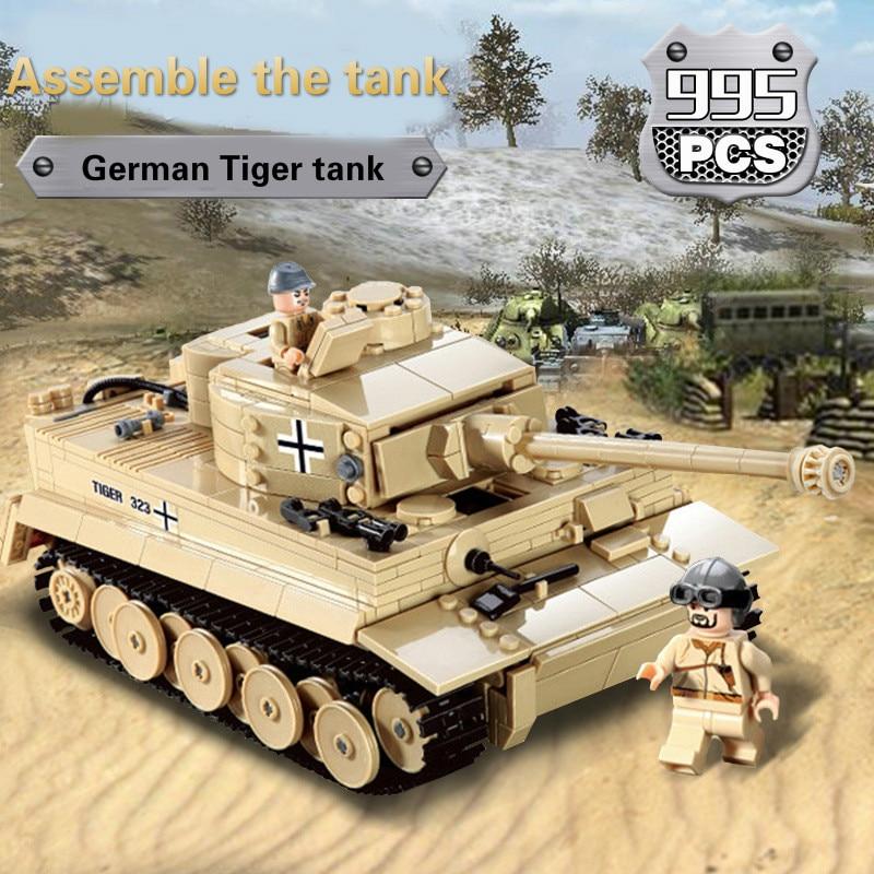 KAZI Century Military Tank Artillery Model German German Armored Forces Tiger - Type Tanks Assembled Blocks altaya german 1 72 tiger jagdtiger tank world war ii tanks heavy tanks