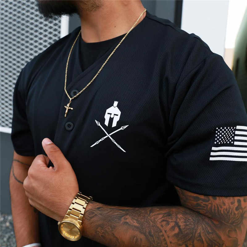 PYHAILLP 2018 New summer men T shirt Fitness Short sleeve Shirts Cotton Casual Slim Tee tops clothing size M-XXL