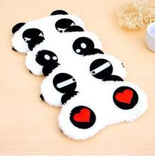 10pcs Panda Sleeping Eye Mask Cover Nap Eye Shade Cartoon Eyepatch Blindfold Sleep Eyes Cover Sleeping Travel Rest Patch Blinder mack s shut eye shade premium sleeping mask