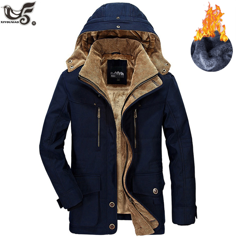 Jacket Men Clothing Parkas Overcoat Warm Military Thick Brand Winter Windbreaker Cotton-Padded
