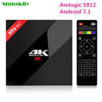 Shinsklly H96 PRO Smart TV Box Android 7 1 Amlogic S912 Octa Core RAM3GB 32GB Android