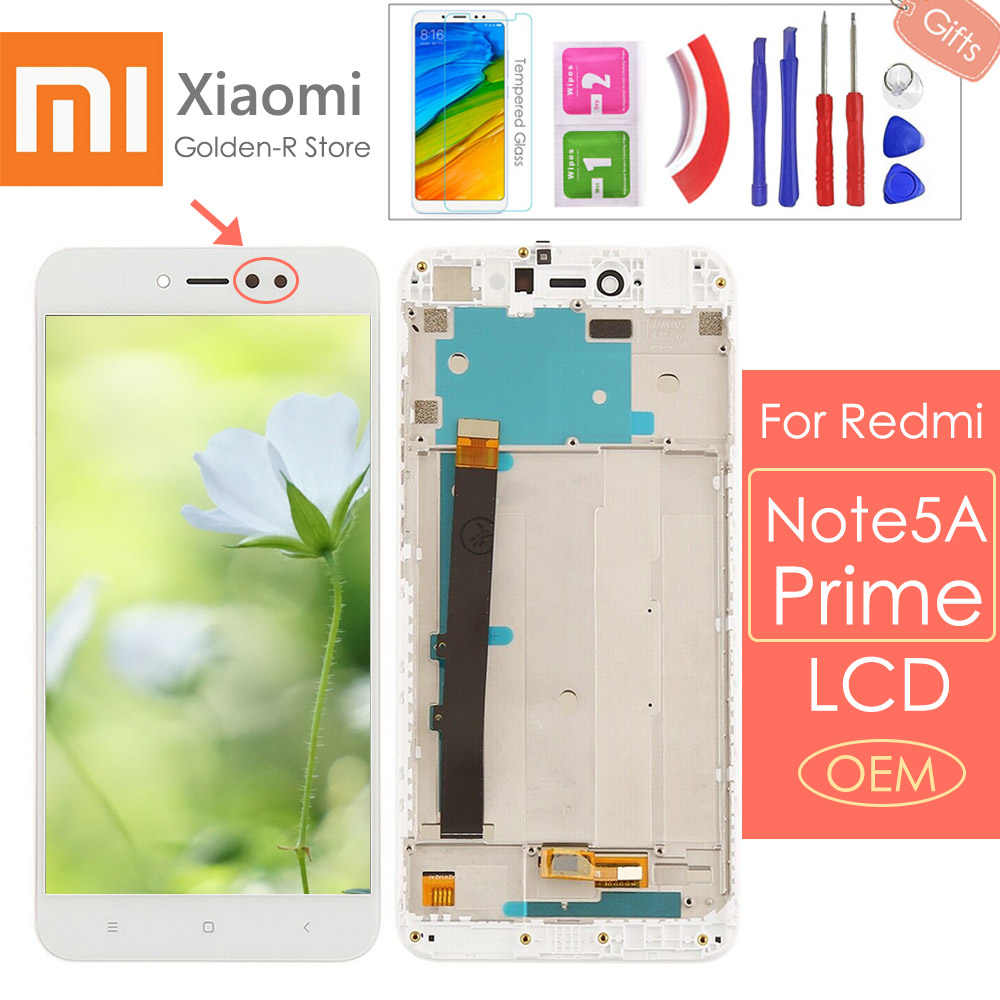 "5.5 ""Tampilan untuk Xiaomi Redmi Note 5A LCD Touch Screen dengan Bingkai untuk Xiaomi Redmi Note 5A Prime LCD y1 3 GB/32 GB + Hadiah"