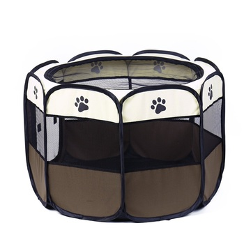 portable-folding-pet-carrier-tent-dog-house-playpen-multi-functionable-cage-dog-easy-operation-octagon-fence-breathable-cat-tent
