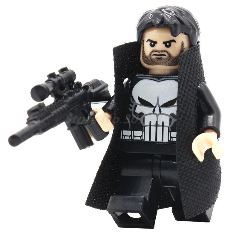 POGO Punisher With Coat DIY Block Marvel Super Hero Avengers Building Model Set Single Sale Classic