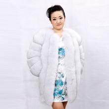New style Ladies Blue Fox Fur Coat / Women winter warm Fox Fur Jacket