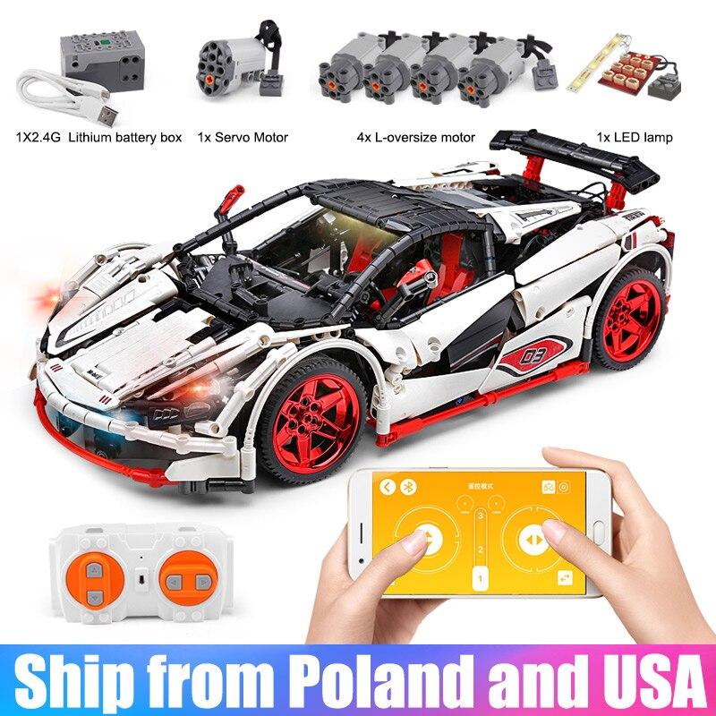 ICARUS Supercar Building Blocks Toy Compatible With 42056 MOC 4562 Lepining Technic McLaren P1 APP RC Car Model Bricks Kids Toys