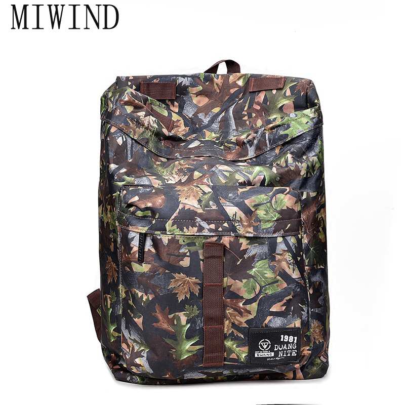 MIWIND Men Waterproof Camouflage Backpack Travel Bag Large Capacity Climb Backpacks Rucksack Mochila Free Shipping TCR373