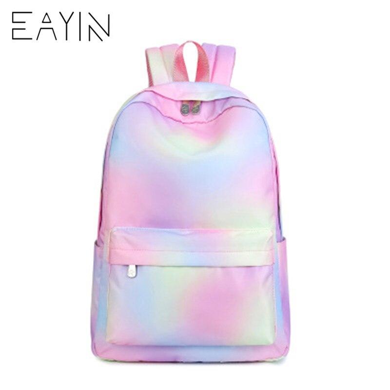 Eayin Korean Style Backpack Female Fashion Tunic Women Backpacks Trendy Canvas Waterproof Backpack For Girls Mochilas Feminina