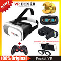 VR Box Version 2.0 Headmount VR Virtual Reality 3D Glasses Google Cardboard Goggles VR Helmet + Bluetooth Wireless Gamepad