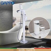 GAPPO grifos de ducha de pie, grifería de bañera con grifos de lavabo, grifos de agua de latón para grifos de baño, sistema de Ducha