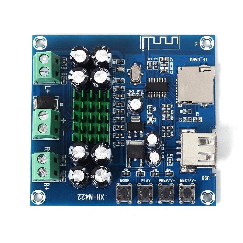 Xh-m422 50 Вт + 50 Вт <font><b>Bluetooth</b></font> Усилители домашние модуль Поддержка U диск TF карты играть TPA3116D2 50 Вт * 2