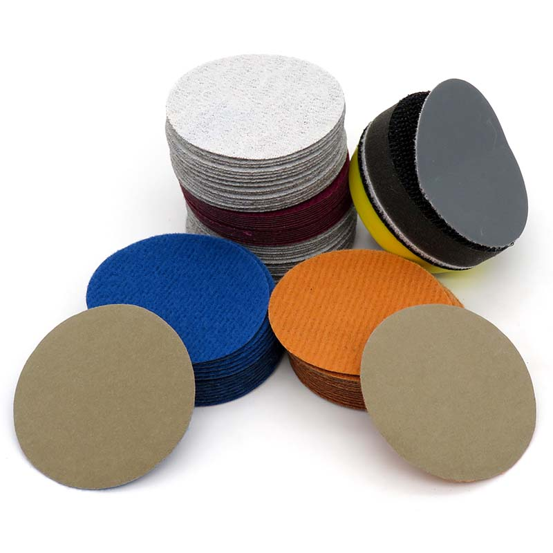 100pcs 3Inch 60Grit Sander Hook/&Loop Backed Flocking Sandpaper Polishing pad