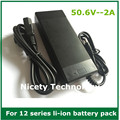 50.4V2A charger  50.4V 2A  lithium li-ion charger  for  12S lithium battery pack