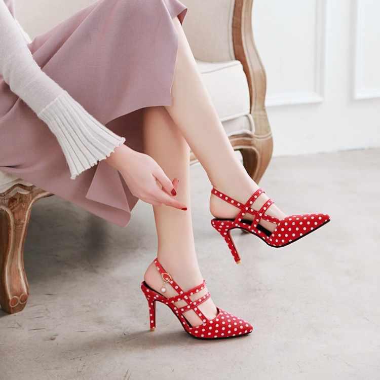 Duży rozmiar 11 12 13 14 15 16 17 wysokie obcasy sandały damskie buty kobieta lato damskie płytkie usta punkt fali w porządku z sandały