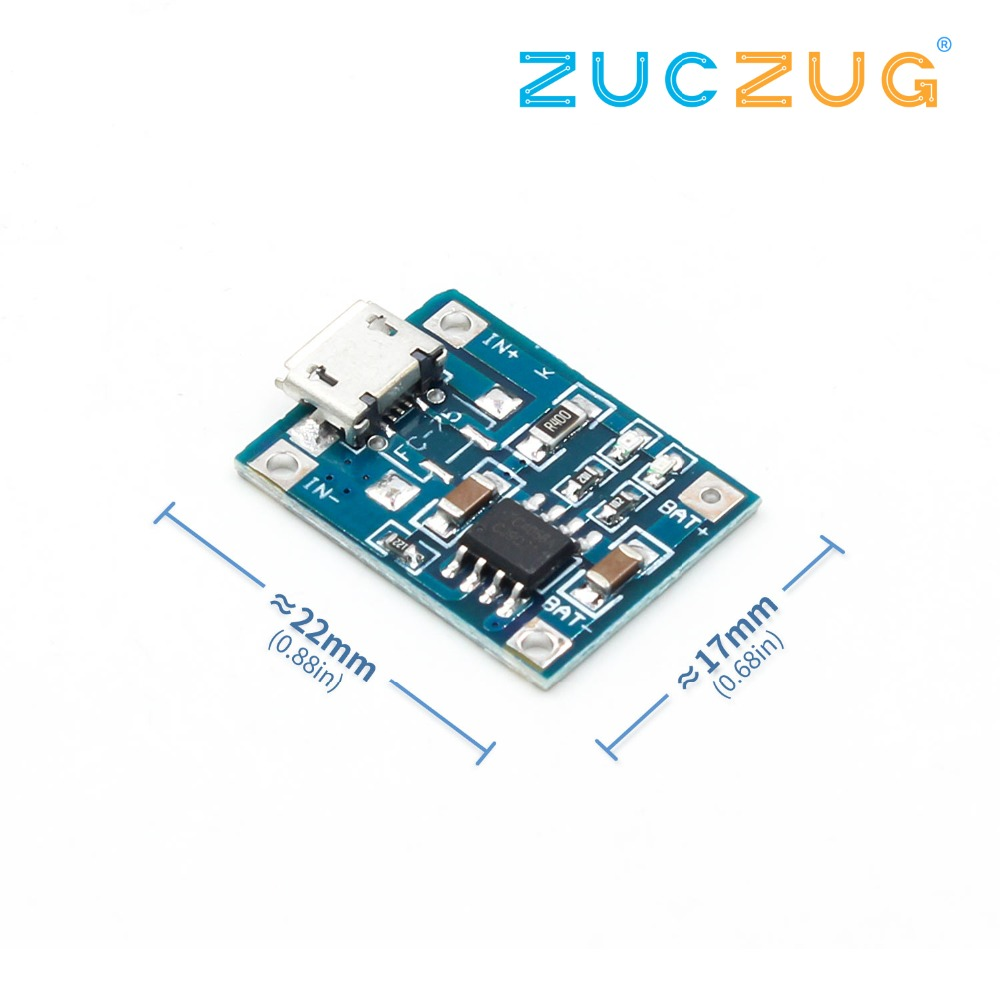 Micro USB TP4056 1A Dedicated Lithium Battery Charging Pad Charging Module Lithium Battery Charger Module 1A Charging