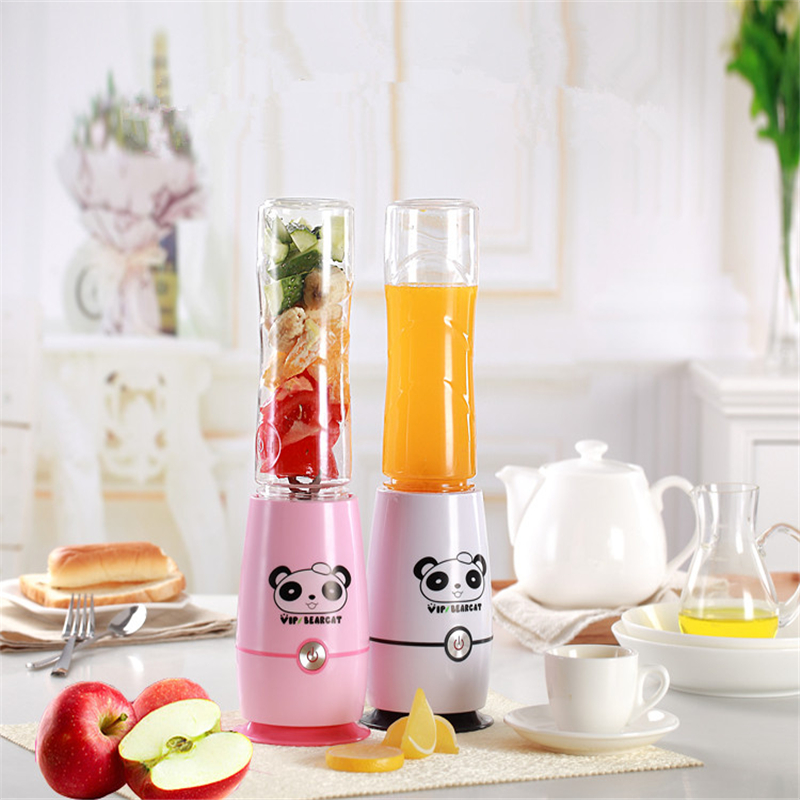 New Panda Mini 600ML Portable Automatic Electric Fruit Juicer Multifunction Healthy Bottle Juicer Cup Mixer Blender top sale 600ml new electric protein shaker blender water bottle automatic vortex tornado free detachable smart mixer
