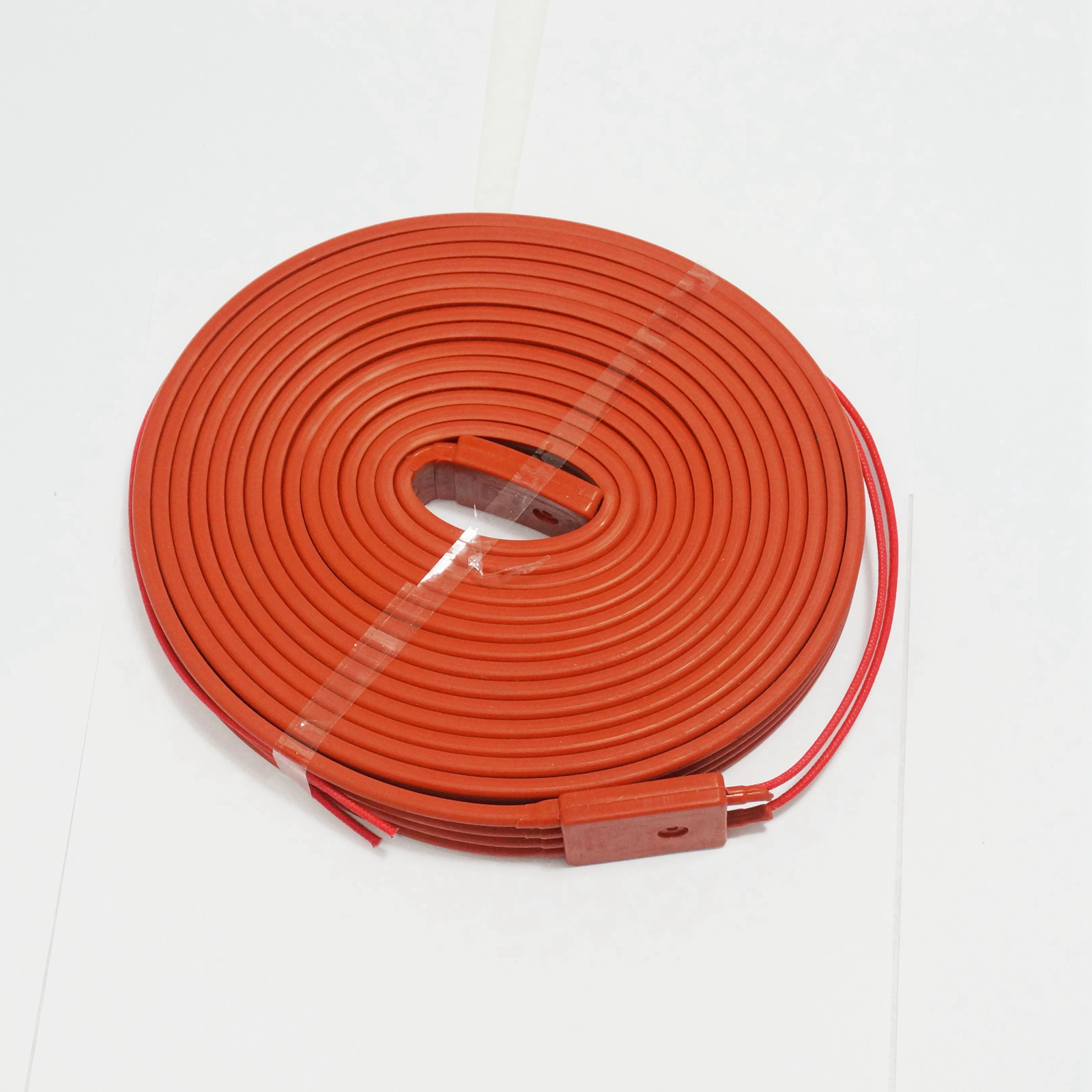 220V AC 25x5000mm 500W Waterproof Flexible Silicone Rubber Heater Heating Belt Unfreezer for Pipeline Electrical Wires 15mmx3m 240w 220v high quality flexible silicone heating belt heat tracing belt silicone rubber pipe heater waterproof electric