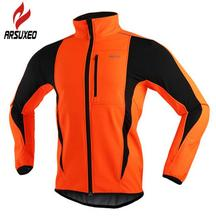 ARSUXEO Thermal Cycling Riding Jacket Winter Warm Up Bicycle Clothing Windproof Waterproof Soft shell Coat MTB Bike Jersey цена