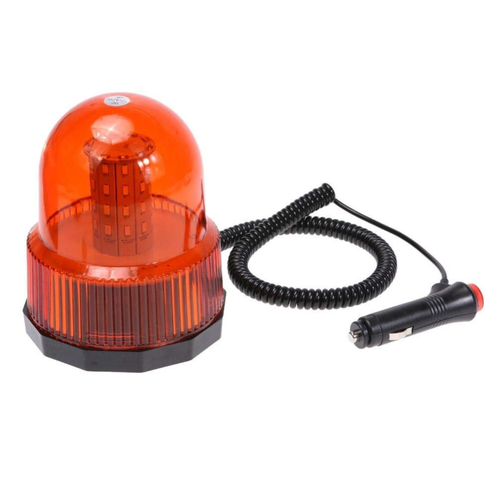 Red Yellow Blue Color LED Car Vehicle Magnetic Mounted Police Strobe Rotating Flashing Warning Light Emergency Lights Beacon