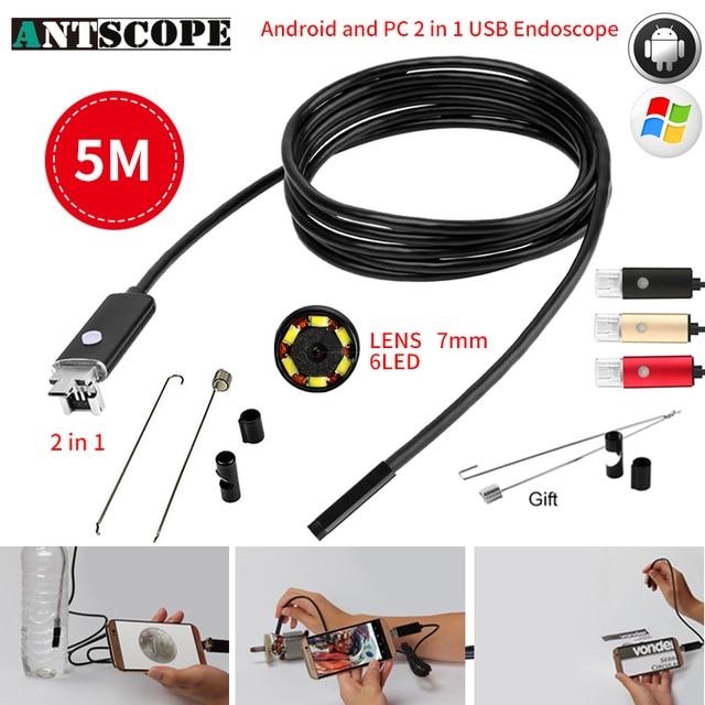Aliexpress.com : Buy Antscope 7MM 2IN1 USB Endoscope