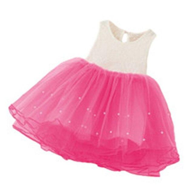 4 colores Niñas Vestidos verano Tutu princesa Flor del bebé traje ...