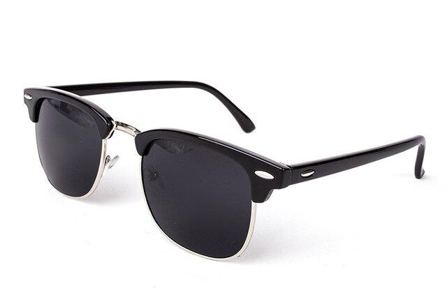 a9b85e50a461 Half Metal High Quality Sunglasses Men Women Brand Designer Glasses ...