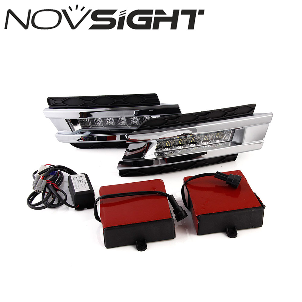 NOVSIGHT Auto Car LED DRL Daytime Running Light Fog Lamp For Benz W164 GL320/350/420/450/550 06-09 car styling led daytime light for mercedes benz gl gl350 gl400 gl450 gl500 x164 2006 2009 led drl with fast delivery