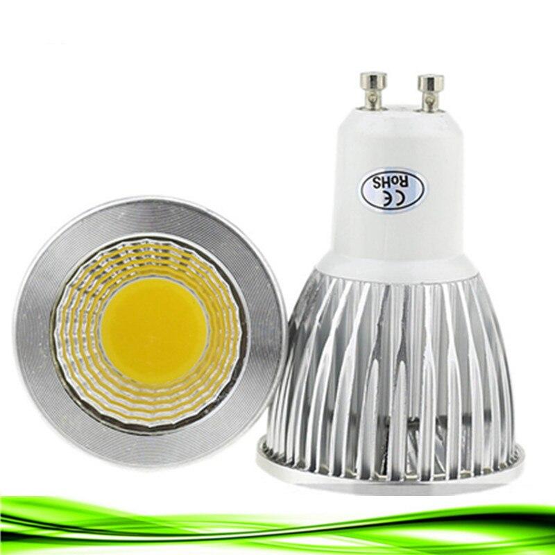 10X lâmpada led GU10 220V 9W 12W bombillas E14 15W CONDUZIU a iluminação da lâmpada 220V dimmable e27 GU5.3 MR16 12V LEVOU COB Spot light