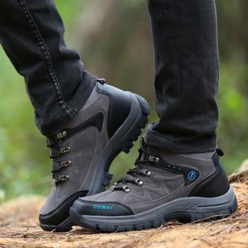 High Quality Waterproof Hiking Shoes Mountain Climbing Shoes Outdoor Hiking Boots Trekking Sport Sneakers Men Hunting BIG SIZE