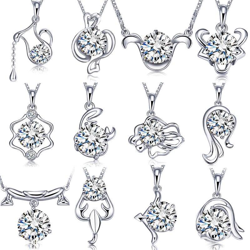 YWM JEWELS Silver 925 12 bürünc asqı kolye Qadınlar üçün - Gözəl zərgərlik