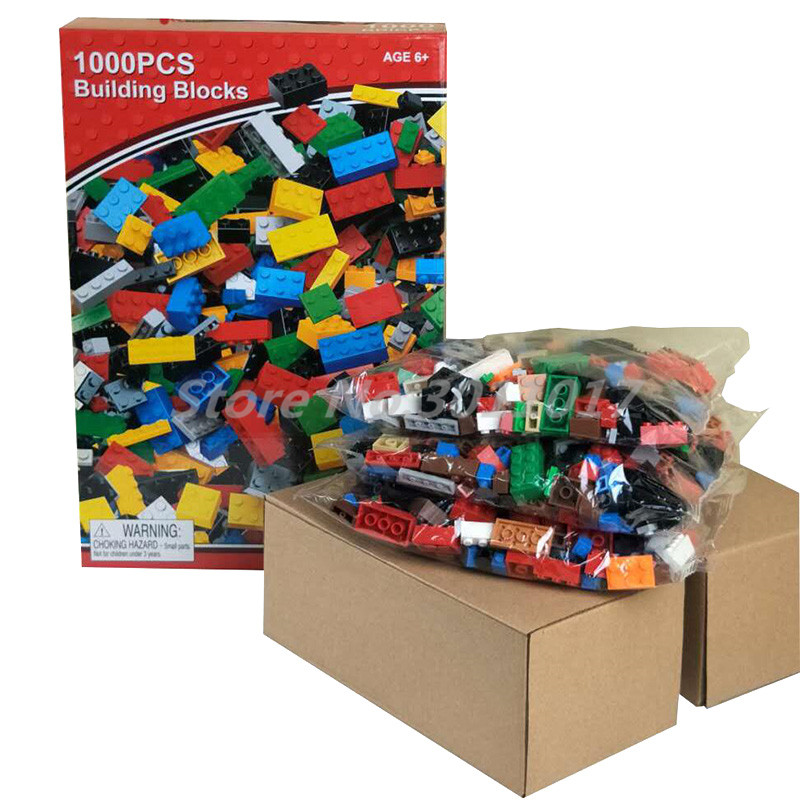 1000pcs Bricks Designer Creative Classic Compatible Legoedly Brick DIY Colors Building Blocks Educational Toys For Children Gift 1000pcs bulk bricks educational children toy compatible with major brand blocks 10 colors diy building blocks creative bricks