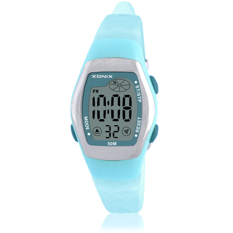 Hot!!! New Fashion Women Sports Watches Waterproof 50m Ladies Jelly Digital Watch Swimming Diving Reloj Mujer Montre Femme AR