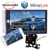 MP4 MP5 player 7 inch Mirror Link car radio support rear view camera 2018 12V Bluetooth Auto Electronics In Dash Mirror Link