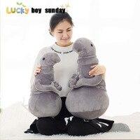 Lucky Boy Sunday New Hot Gray Blob Zhdun Plush Doll Toys Waiting Plush Toy Zhdun Meme